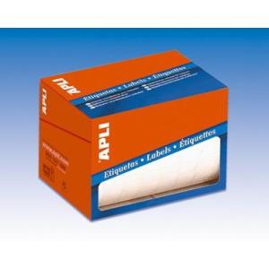 Etikett, 25 mm kör, kézzel írható, kerekített sarkú, tekercsben, APLI, 2400 etikett/csomag (LCA1674)
