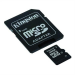 Memóriakártya, Micro SDHC, 32GB, Class 4, adapterrel, KINGSTON (MKMS32GA)