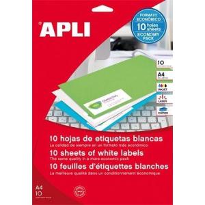 Etikett, univerzális, 210x148 mm, APLI, 20 etikett/csomag (LCA12918)