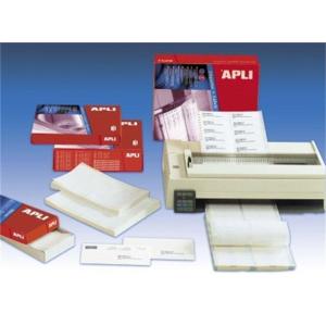 Etikett, mátrixnyomtatókhoz, 1 pályás, 210x148,1 mm, APLI, 1000 etikett/csomag (LCA074)