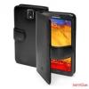 CELLY Samsung Note 3 Flip cover bőr tok, fekete