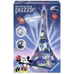 Ravensburger 3D puzzle, Mickey & Minnie - Eiffel-torony, 216 db (4005556125708)