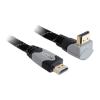 DELOCK HDMI 1.4 M/M video jelkábel 5m 3D support, 90°-os csatlakozó 83077