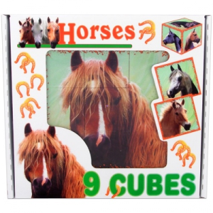 Dohány Lovak 9 db-os kocka puzzle
