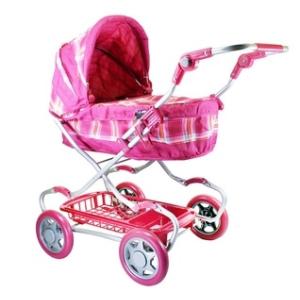 Pink4 Nagy rózsaszín babakocsi - 48 x 71 x 20 cm