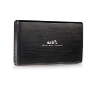 Natec RHINO külső USB 2.0 ház 3.5\'\' SATA/IDE HDD-hez  fekete alumínium