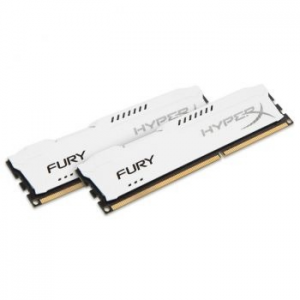 Kingston HyperX FURY White 16GB (2x8GB) Memória, DDR3, 1600MHz, CL10, 1.5V (HX316C10FWK2/16)