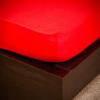 NATURTEX 160x200 cm-es jersey gumis lepedő (piros)