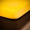 NATURTEX 100x200 cm-es jersey gumis lepedő (napsárga)