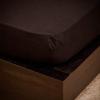 NATURTEX 200x200 cm-es jersey gumis lepedő (fekete)