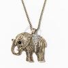 Nyaklánc színjátszóköves elefánt medállal jwr-1109