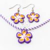 Gyerek ékszer szett virágos - lila jwr-1464