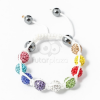 Multicolor shamballa karkötő fehér jwr-1558