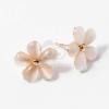 Arany bevonatos fehér virágos fülbevaló jwr-1069