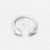 Tüskés nyitott gyűrű - ezüst bevonatos jwr-1113