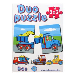 Duo Puzzle 8 x 2 darabos - építkezés