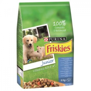Friskies Junior kutyaeledel, 15 kg (5997204506887)