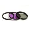 Polaroid szűrőszett (UV, CPL, FLD) + 4 db-os szűrőtok 49 mm