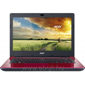 "Acer Aspire E5-411G-P690 14"" notebook, Piros"
