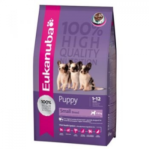 Eukanuba Puppy & Small Breed kutyaeledel, Csirke, 7.5 Kg (0019014148752)