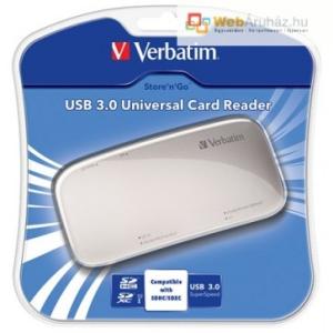 Kingston Kártyaolvasó, univerzális, USB 3.0 csatlakozás, VERBATIM