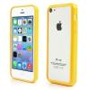 utángyártott Műanyag telefonvédő keret (gumi / szilikon belső, BUMPER) SÁRGA [Apple iPhone 5C]