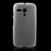 utángyártott Telefonvédő gumi / szilikon MATT ÁTLÁTSZÓ FEHÉR [Motorola Moto G XT1032]