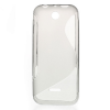 utángyártott Telefonvédő gumi / szilikon (S-line) SZÜRKE [Nokia 225]