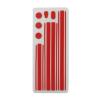 utángyártott Telefondísz matrica (oldalsó, menügombra) PIROS [Apple iPhone 4, iPhone 4S]