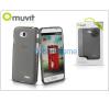 Muvit LG L70 D320N/L65 D280 hátlap - Muvit miniGel - smoke black tok és táska