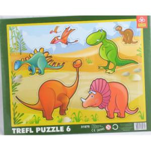 Trefl Trefl - 6 db-os keretes puzzle - Dinoszauruszok (31075)