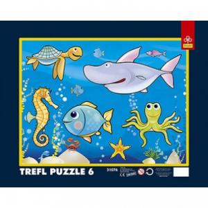 Trefl - 6 db-os keretes puzzle - Az óceánban (31076)