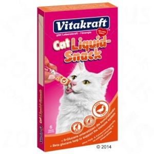 Vitakraft Cat folyékony snack kacsa & ß-glükán - 6 x 15 g
