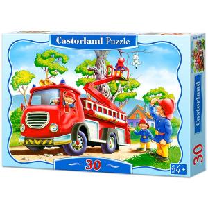 Tűzoltó autó - 30 darabos puzzle