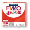 Gyurma, 42 g, égethető, FIMO Kids, piros (FM80302)