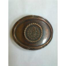 Övcsat-címeres,ovális (bronz színű)