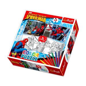 Trefl TREFL Pókember 2 x 48 db-os színezhetõ puzzle