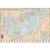 Stiefel Eurocart Kft. !Magyarország közigazgatása a járásokkal falitérkép antik stílusú, fémléces vagy keretezett változat