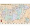 Stiefel Eurocart Kft. !Magyarország közigazgatása a járásokkal falitérkép antik stílusú, fémléces vagy keretezett változat térkép
