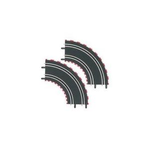 Carrera GO/D143 1/90 fokos kanyar pályaelem (2db)