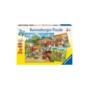 Ravensburger Lovasiskola 3x49 db-os puzzle (092376)