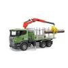 Bruder Scania R-szériás rönkszállitó teherautó (03524)