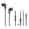 Qoltec Earphones + microphone   Black
