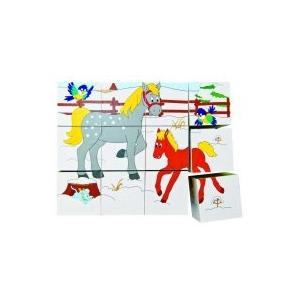 Woody Kocka puzzle 3 x 4 - Állatok