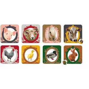 JANOD Lovely puzzle Farm állatok, 4 féle