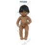 Latin amerikai karakterű fiú hajasbaba (38 cm), Miniland játékbaba felszerelés