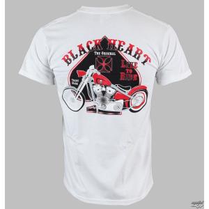 BLACK HEART póló férfi BLACK HEARTH - Old School Bike - White