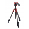 Manfrotto Compact Action állvány, piros