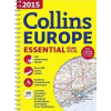 - COLLINS EUROPE 2015 - ESSENTIAL ROAD ATLAS (EURÓPA ATLASZ, SPIRÁL A4)