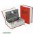 pénzkazetta, könyv típusú, 2db kulccsal, festett acél ; 245×155×55mm